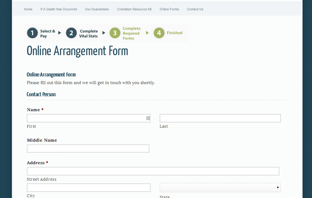 06-online-arrangement-form